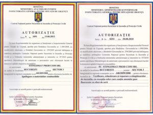 Certificat de atestare incarcare / Certificat de atestare verificare