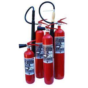 Stingatoare de incendiu portabile cu dioxid de carbon